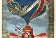 Balloons, flying machines / Balloons and flying machines in art, 18th-19th century