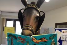 La Mulassa de Falset llegeix / La Mulassa de Falset, quan passa les vacances a la Biblioteca, no para de llegir...