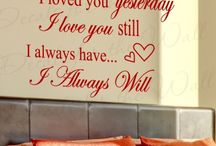 Valentine's Day Decor / Romantic quotes and decor for Valentine's Day