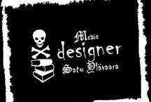 My artworks: Ex Libris. Logo. Käyntikortti
