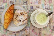 Breakfast idea #breakfast #croissant #greentea #greentealover / Breakfast idea #breakfast #croissant #greentea #greentealover