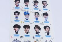Korean Pop Star Standing 3D Sticker