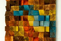 detalles de madera en muro