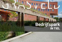 Bedrijfspark Waterschap Rivierenland te Tiel / Het bedrijfspark en parkeerterrein van Waterschap Rivierenland in Tiel heeft een interne watercyclus en buffert al het water van het gebouw en de parkeerplaatsen op eigen terrein. Ook in het gebouw wordt dit zichtbaar gemaakt door een vijver en waterval.