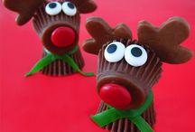 Reindeer choc cups / Reindeer choc cups