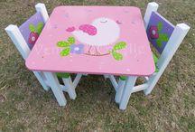 mesas para niñas