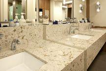 Cambria Quartz bathroom sinks