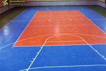 سالنهای ورزشی / کفپوشهای ورزشی مخصوص سالنهای چند منظوره ورزشی