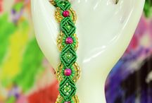 Macrame and beading / Macrame with beading sites and images.