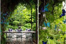 Blue butterfly wedding theme
