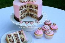Pink/Leopard Print Baby Shower Cake