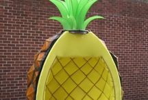 Inspirations: Pineapple obsession / Be a pineapple: tall, crown-headed and sweet inside. Is there something better? :-)