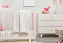 Dream Land Nursery / Soft colors and a modern design in this nursery lull your little one off into a restful dream land.