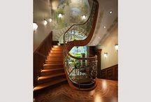 Дизайн лестниц / Варианты дизайна интерьеров лестниц от студии Elle Interior. Желаете заказать подобные дизайн проекты? Ждем вас к нам в гости http://elle-interior.ru