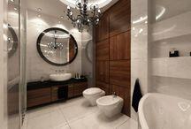 """Glamour Design / Wytworna łazienka z duszą glamour -wzornictwo najwyższej jakości, elegancja, blask i nutka przepychu w aranżacji gt projekt & """"Larkviz"""" Szymon Skowron Polecamy"""