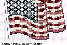 Cross Stitch USA / America, Statue of Liberty, Unites States cross stitch patterns