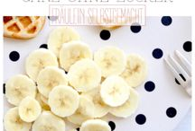 bananen waffel