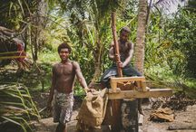Fair Trade DME Story / These pictures are the reason why we stand behind Fair Trade. These are the faces of the very farmers in Soloman Islands that help us in producing your health products. And we thought to ourselves, shouldn't they be cared for as well?  We created DME process to bring a better living condition and a sustainable life style to the farmers, who were barely making enough to feed themselves before the introduction of DME.
