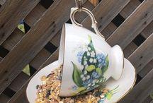 Bird Feeders / Teacup bird feeders