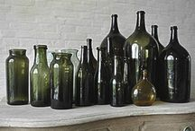 Lovely glass receptacles!!! / by Vonna Beach
