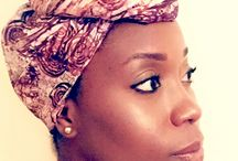 African Print Head Wraps / Beautiful and unique African print head wraps sold exclusively by Urban Afrique. These head wraps accent your style and let you express yourself in a special way