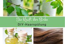 Naturkosmetik DIY | Haarpflege DIY | Haarkur DIY | Haaröl DIY | Shampoo DIY / Naturkosmetik, Schönheitspflege für die Haare, Rezepte zum Selbermachen