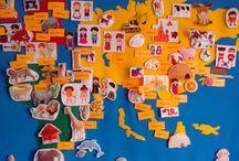 Felt map, world map, felt animals, felt toys / Do you want giant felt toys? Write me! Felt world map is the great tool to teach children to interest things.