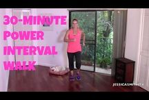 Walking, Exercise for Beginners: Free Full Length 30-Minute Power Interv..
