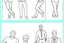 dessins poses