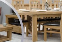 Manor Oak dining and living room furniture