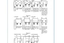 metal fabricating charts / A collection of metal fabricating charts for press brake forming, shearing, metal punching, band saw cutting and other misc. charts.