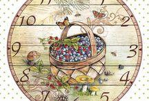 Часы, картинки для распечаток