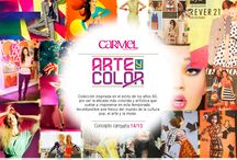 Arte y color / Arte y Color es una colección inspirada en el estilo de los años 60, por ser la década más colorida y artística que vuelve a imponerse esta temporada con su inconfundible aire fresco del mundo de la cultura pop, el arte y la moda.