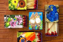 Match box painting by lorettaeccoart / Match box painting and design
