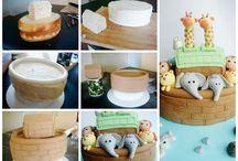 making Noah's ark cake