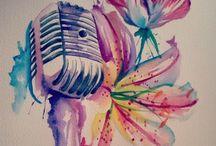 Tatouage Watercolors