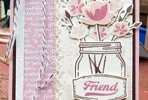 cartes en pot / mason jar cards / carte homemade