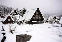 Shirakawa-go, Japan / Thatched Japanese farmhouses in the remote mountains of Japan.