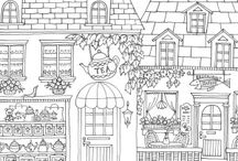 Romantic country colouring