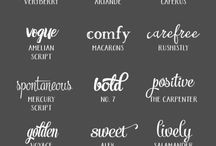 Font Inspiration / A board about fonts! An inspiration for graphic design work & my bullet journal.                    | Fonts | Inspiration | Typography |
