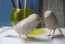 vtáčatá kašírované