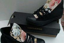 floral converse high black
