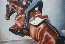Horses in Art- Eventing and Team Chasing
