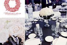 Чёрно-белые свадьба