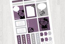 Planner Stickers - Joyful Designs / Planner stickers, organizational stickers, Erin Condren Happy Planner stickers, print out stickers