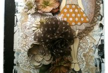 Prima Dolls / cards, tags, and other creations using Prima Mixed Media Doll stamps