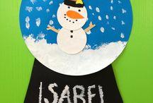 Winter/Weihnachten Bastelei Kita