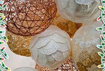 Toalha Rendada de Papel Doilies: Luminárias