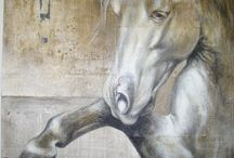 horses painted by Kamila Karst / horses in art