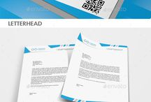 Corporate Stationery /  If you need a corporate identity template with a fresh design, then this set is a great choice. It includes stationery design with letterhead, corporate identity etc.